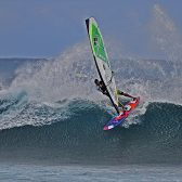 Tom Hartmann, Goyasails, Goya boards, Banzai sail, Mauritus windsurfing, One eye windsurf